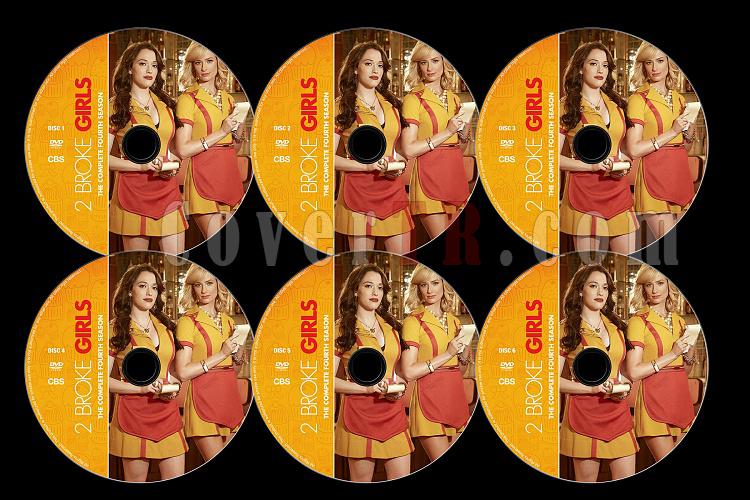 2 Broke Girls (Season 4) - Custom Dvd Label Set - English [2014]-2b4jpg