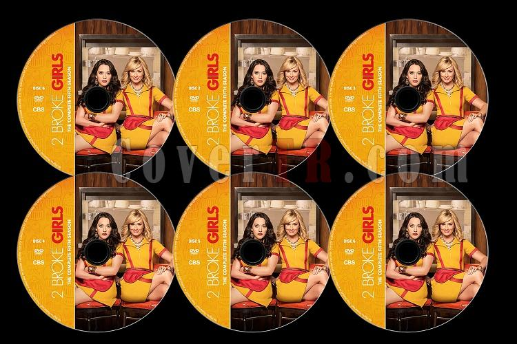 2 Broke Girls (Season 5) - Custom Dvd Label Set - English [2015]-2b5jpg
