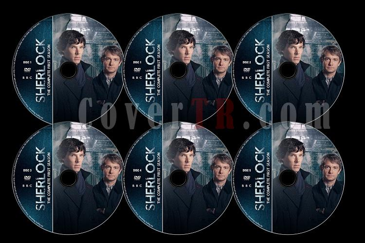 Sherlock (Season 1) - Custom Dvd Label Set - English [2010]-s01jpg
