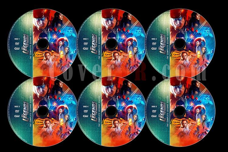 Legends of Tomorrow  (Season 2) - Custom Dvd Label Set - English [2017]-alljpg