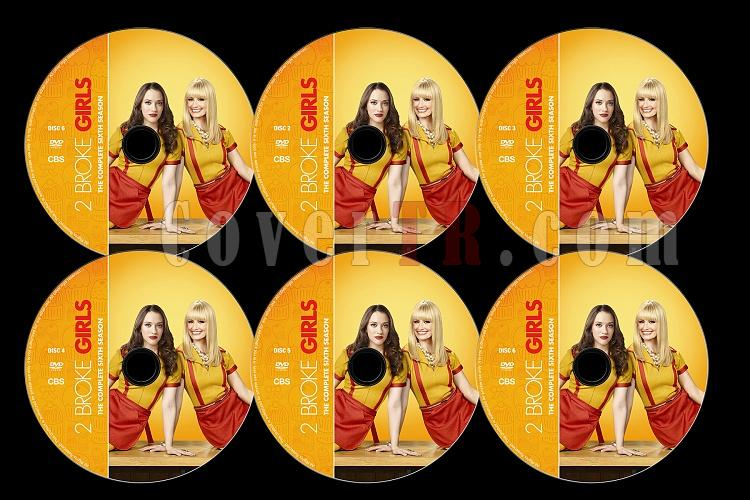 2 Broke Girls (Season 6) - Custom Dvd Label Set - English [2016]-0jpg