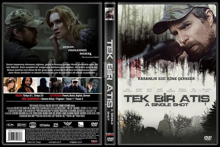 A Single Shot Tek Bir Atış 2013 Türkçe Tasarım DVD Cover-standardjpg