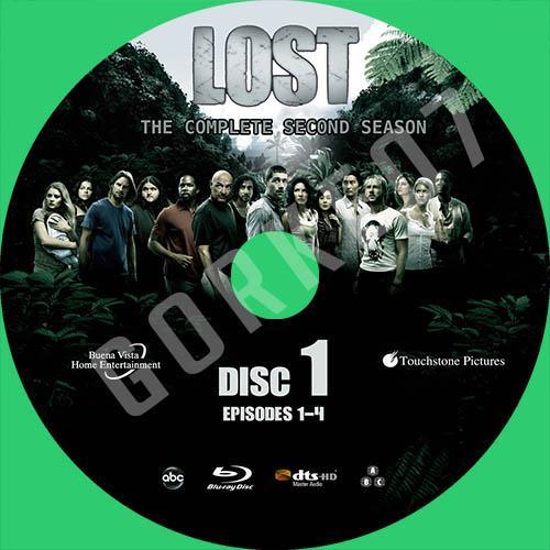 Lost Serisi Türkçe ve İngilizce Cover Label Seti-lost-season-02-labeljpg