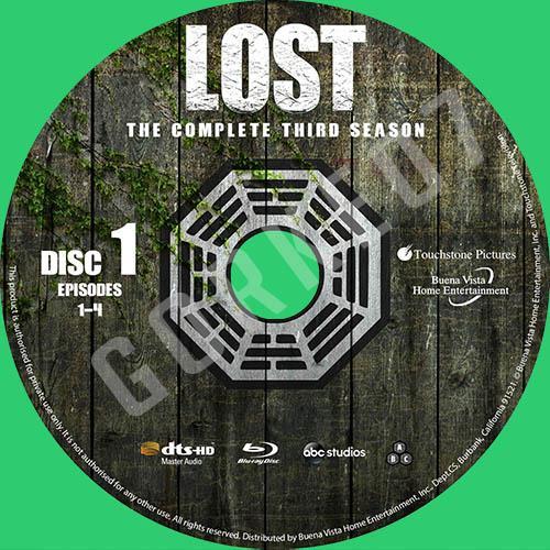 Lost Serisi Türkçe ve İngilizce Cover Label Seti-lost-season-03-labeljpg