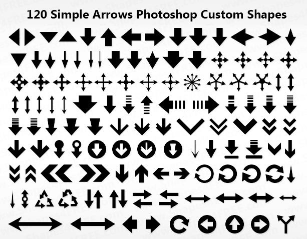 120 Arrows (ok) Shapes-preview-120-arrowsjpg