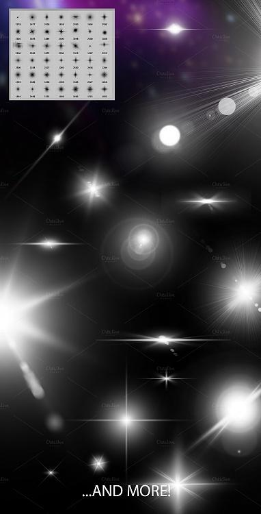 Lens Flare And Stars Photoshop Brushes-3jpg