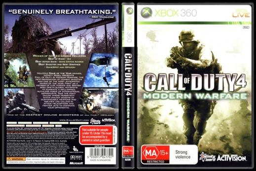 Call of Duty 4: Modern Warfare - Scan Xbox 360 Cover - English [2007]-1jpg