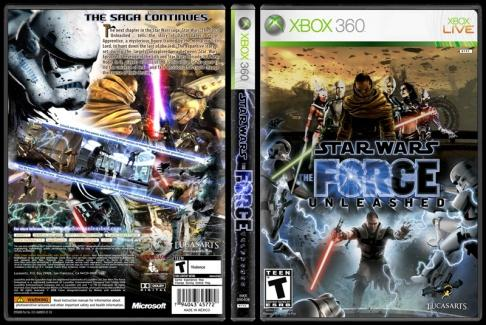 Star Wars: The Force Unleashed - Custom Xbox 360 Cover - English [2008]-onizlemejpg