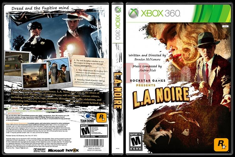 L.A. Noire - Custom Xbox 360 Cover - English [2011]-onizlemejpg