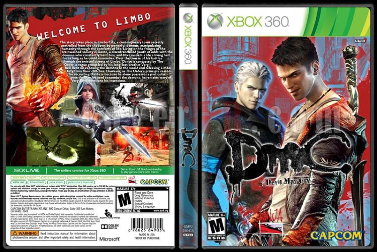DmC: Devil May Cry - Custom Xbox 360 Cover - English [2013]-onizlemejpg