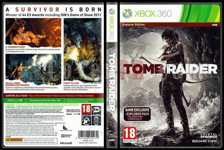 Tomb Raider (Explorer Edition) - Scan Xbox 360 Cover - English [2013]-tomb-raider-scan-xbox-360-cover-english-2013-pal-pjpg