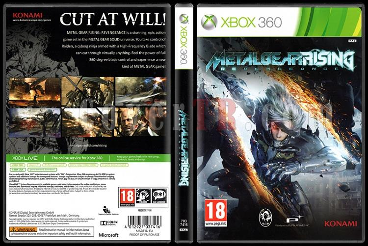 Metal Gear Rising: Revengeance - Scan Xbox Cover - English [2013]-onizlemejpg
