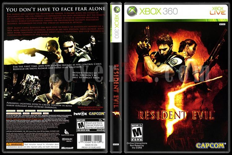 Resident Evil 5 - Scan Xbox 360 Cover - English [2009]-onizlemejpg
