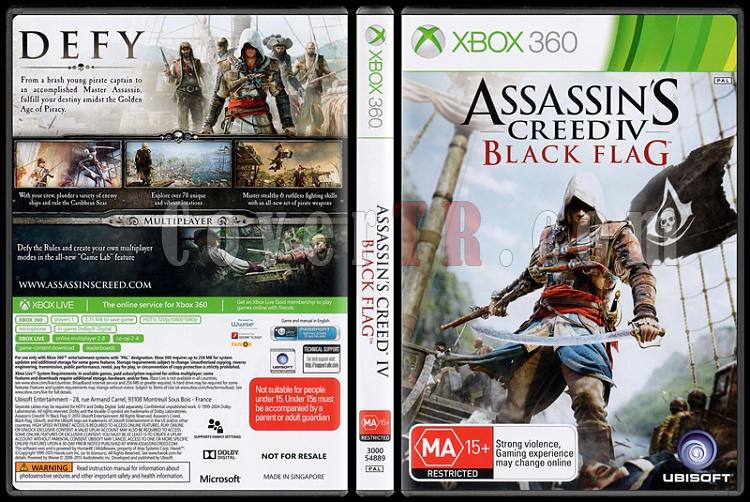 Assassin's Creed IV: Black Flag - Scan Xbox 360 Cover - English [2013]-onizlemejpg