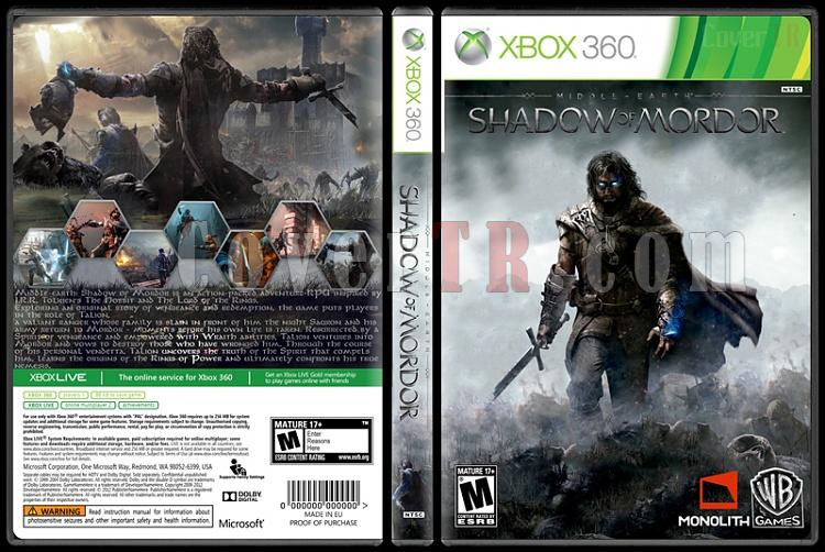 Middle-Earth: Shadow of Mordor - Custom Xbox 360 Cover - English [2014]-standardjpg