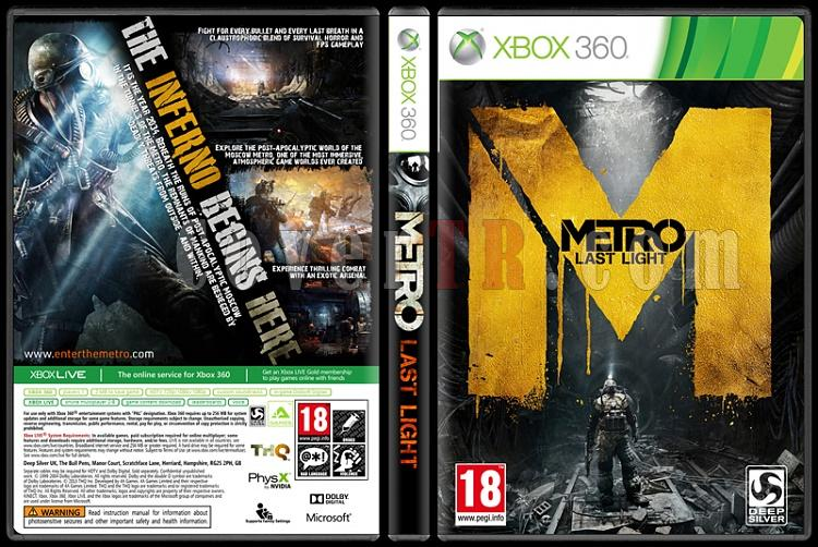 Metro: Last Light - Custom Xbox 360 Cover - English [2013]-onizlemejpg