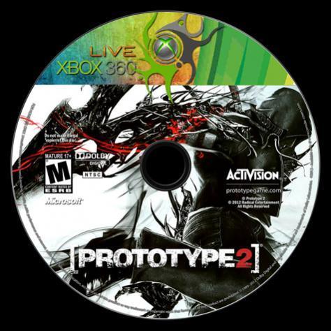 Prototype 2 - Custom Xbox 360 Dvd Label - English [2012]-prototype_2_-_xbox_360_labeljpg