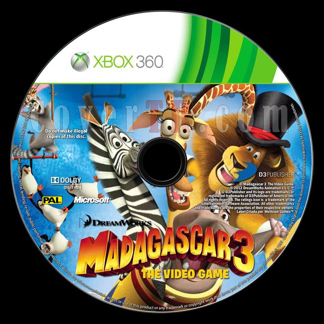 Madagascar 3: The Video Game - Custom Xbox 360 Label - English [2012]-madagascar-3-video-gamejpg