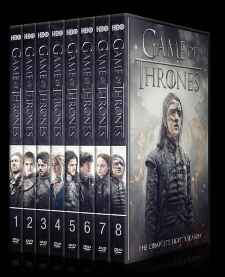 Game Of Thrones Seasons 1 8 Custom Dvd Cover Set
